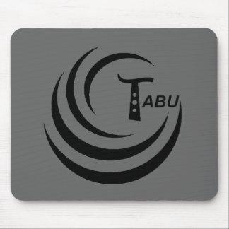 Tabu Logo no back TABU clear LARGE PNG Mousepad