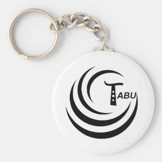 Tabu T Logo Large Black color Basic Round Button Key Ring