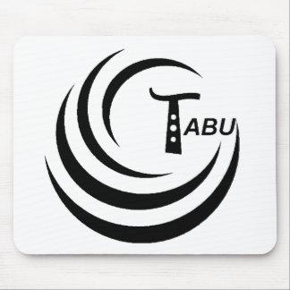 Tabu T Logo Large Black color Mouse Pad