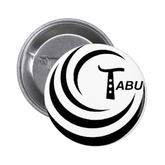 Tabu T Logo Large Black colour Pinback Button