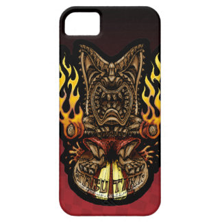 Tabu Tiki Surfing Tropical Fire God iPhone 5 Cases
