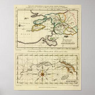 Tabularum geographicarum specimen World Map Poster