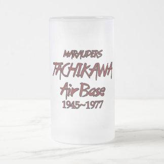 Tachikawa Air Base Japan 1945-1977 Frosted Glass Beer Mug