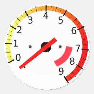 Tachometer Sticker