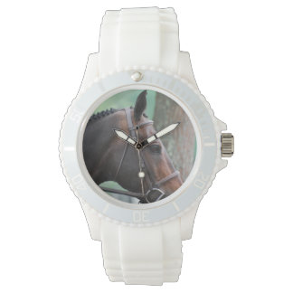 Tacked Dark Bay Horse Watch