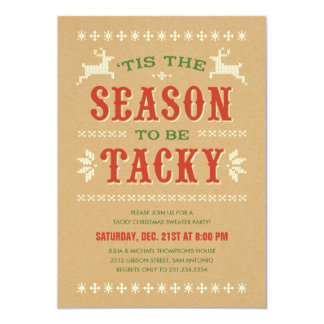 Tacky Christmas Sweater Party Invitations