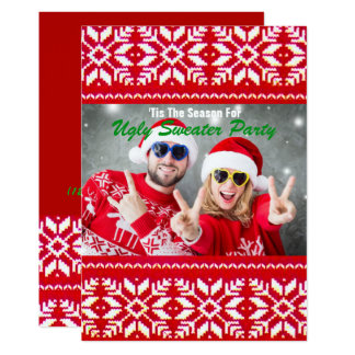 Tacky Christmas Ugly Sweater Party Card