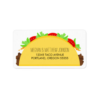 Taco Address Label