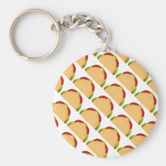Taco Basic Round Button Key Ring