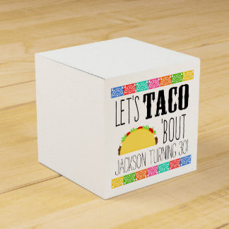 Taco 'Bout Birthday Party Favour Boxes