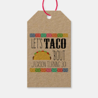 Taco 'Bout Birthday Party Gift Tags