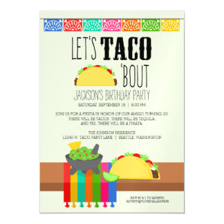 Taco 'Bout Birthday Party Magnetic Invitations