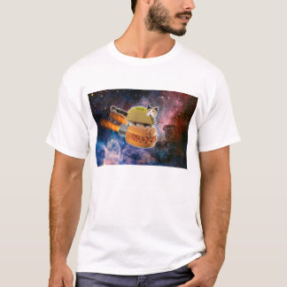 Taco Burger Space Cat Shirt