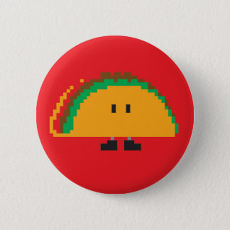 Taco Button - Red