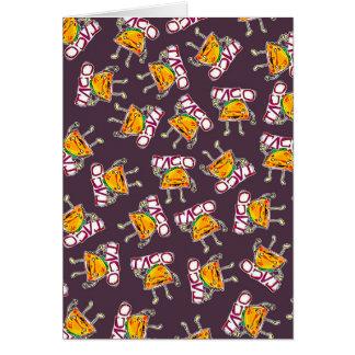 taco cartoon style funny illustration pattern card