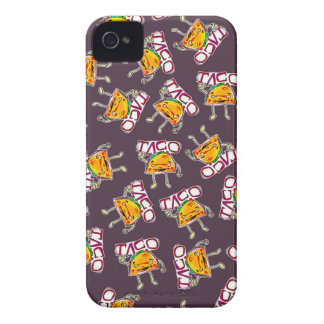 taco cartoon style funny illustration pattern iPhone 4 Case-Mate case