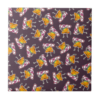 taco cartoon style funny illustration pattern tile