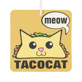 Taco Cat Car Air Freshener