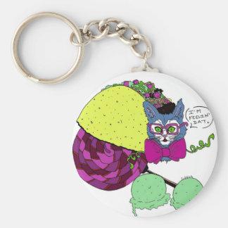 Taco Cat Feelin' Dat Key Chain