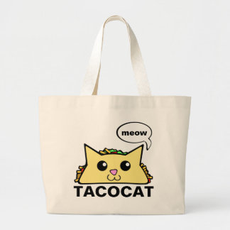 Taco Cat Large Tote Bag