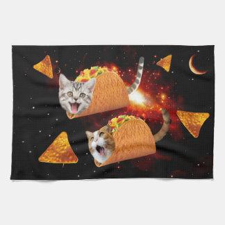 Taco Cats Space Tea Towel