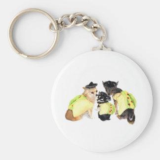 Taco Chihuahuas Basic Round Button Key Ring