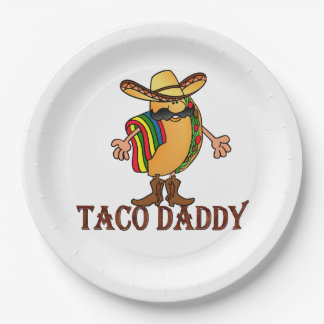 Taco Daddy Cinco de Mayo Paper Plate 9 Inch Paper Plate