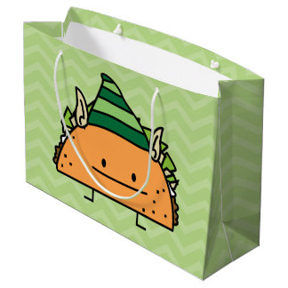 Taco Elf Large Gift Bag