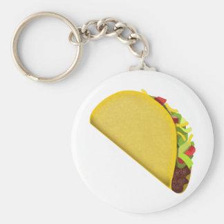 Taco Emoji Basic Round Button Key Ring