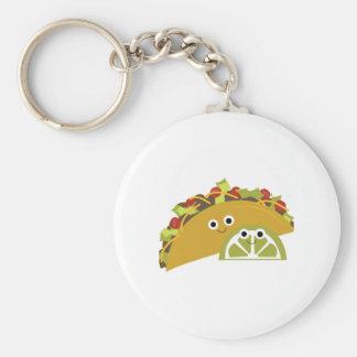 Taco Basic Round Button Keychain