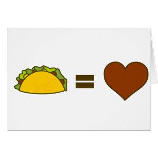 Taco=Love Card