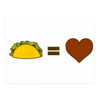 Taco=Love Postcard