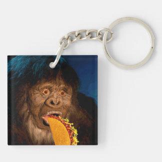 Taco Man Tag Double-Sided Square Acrylic Key Ring