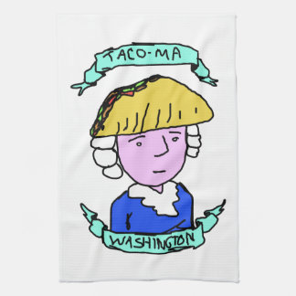 Taco Meat Tacoma Washington Tea Towel