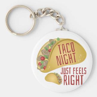 Taco Night Basic Round Button Key Ring