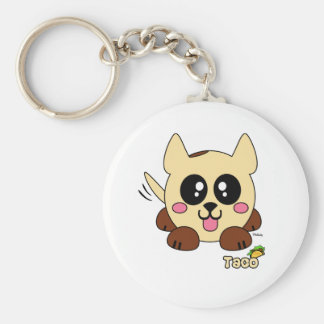 Taco Pudgie Pet Basic Round Button Key Ring