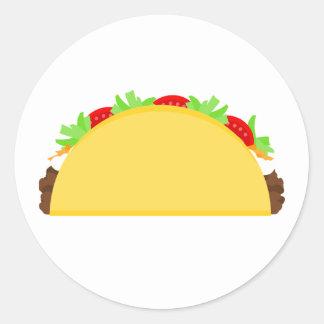 Taco Round Sticker