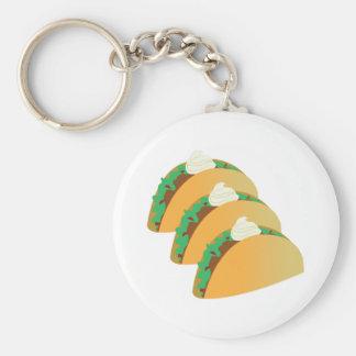 Taco Sour Cream Keychain