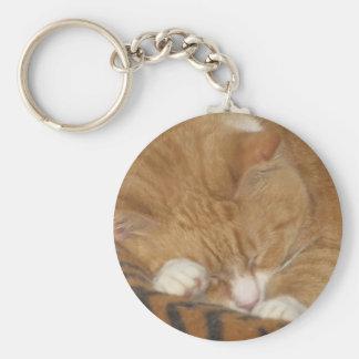 Taco the Siesta Cat Basic Round Button Key Ring
