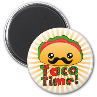 Taco Time 6 Cm Round Magnet