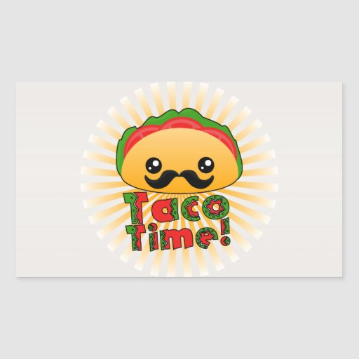 Taco Time Rectangle Stickers