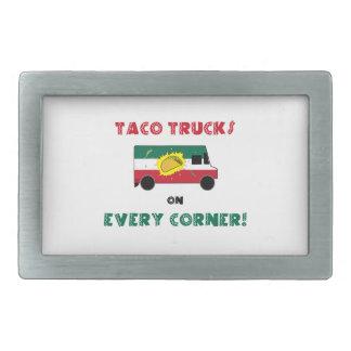 Taco Trucks On Every Corner Rectangular Belt Buckle