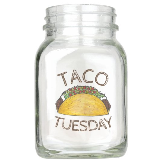 Taco Tuesday Mexican Fiesta Foodie Centerpiece Mason Jar