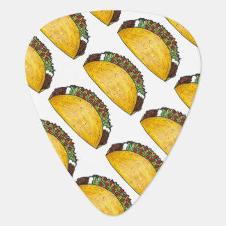 Taco Tuesday Mexican Food Tacos Foodie Print Plectrum