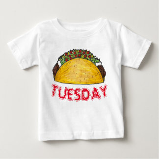 TACO TUESDAY Mexican Tex Mex Food Tacos Foodie Baby T-Shirt