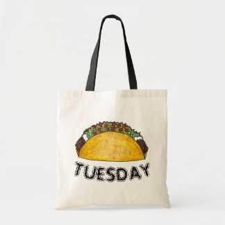TACO TUESDAY Mexican Tex Mex Food Tacos Foodie Tote Bag