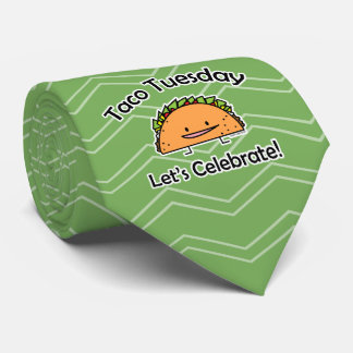 Taco Tuesday shell cheese Mexican food Tie