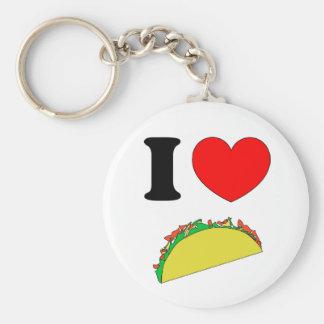 Taco Wear Basic Round Button Key Ring