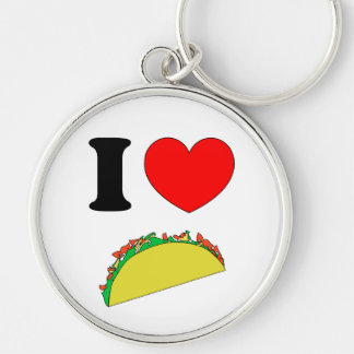 Taco Wear Silver-Colored Round Key Ring