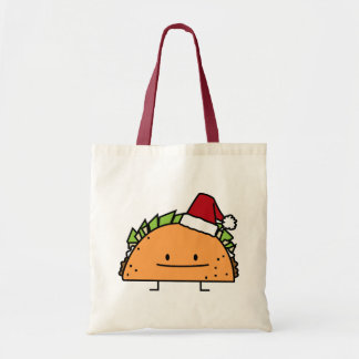 Taco Wearing a Santa Hat Christmas